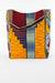 African Print Shopper Bag - Orange/Maroon  Geo -Floral Print - Africas Closet