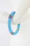 African Maasai Beaded Bracelet - Light Blue - Africas Closet