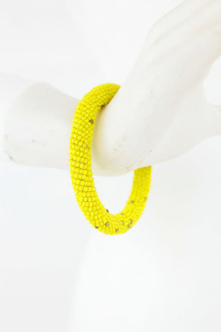 African Maasai Beaded  Bracelet-Yellow/Gold