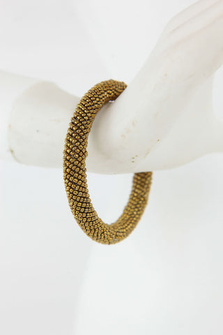 African Maasai Beaded  Bracelet-Gold