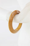 African Wooden Bangle-Golden Brown Medium - Africas Closet