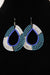 African Maasai(Maa) Bead Hoop Earrings-White/Light Blue - Africas Closet
