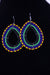 African Maasai(Maa) Bead Hoop Earrings-Royal Blue/Teal - Africas Closet