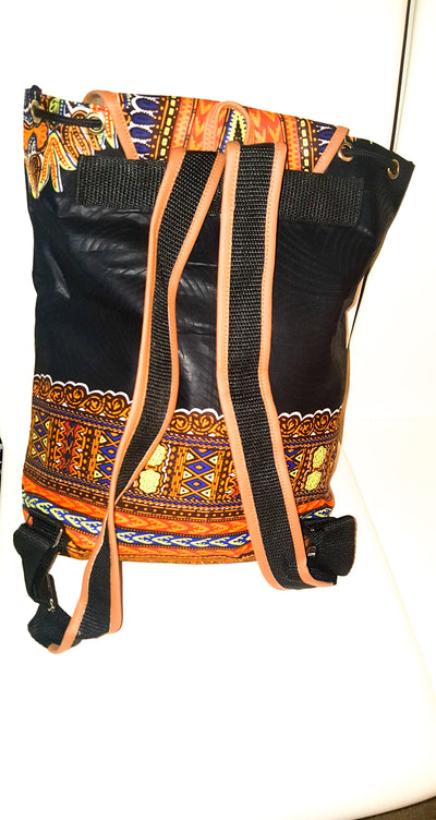 African Print Back Pack-Back Pack Dashiki Print - Africas Closet