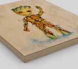 Fan Art Groot Wood Print