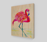 Flamingo Wood Print