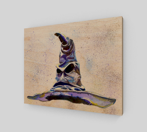 Fan Art Sorting Hat Wood Print