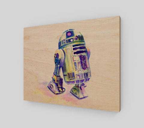 Fan Art R2D2 Wood Print