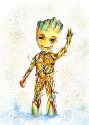 Fan Art Groot Print