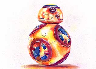 Fan Art BB8 Print