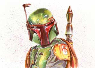 Fan Art Boba Fett Print