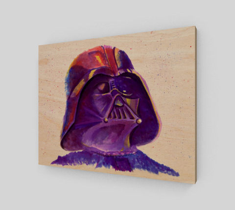 Fan Art Darth Vadar Wood Print
