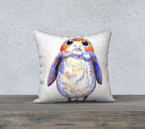 Fan Art Porg Pillow