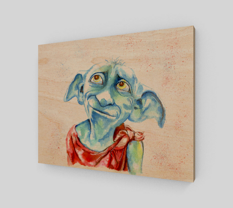 Fan Art Dobby Wood Print