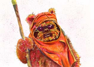 Fan Art Ewok Print