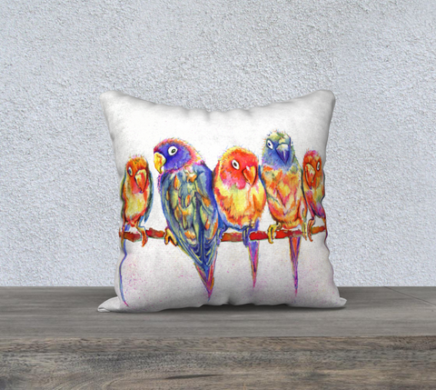 Colourful Birdies Pillowcase