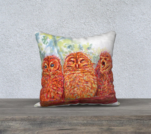 Owl Trio Pillow