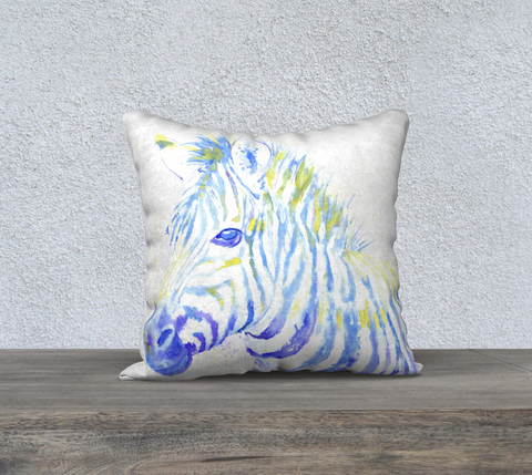 Blue Zebra Pillowcase