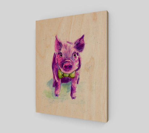 Perfect Piggy Wood Print