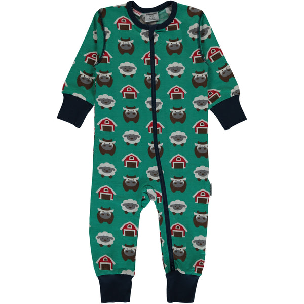 Maxomorra Organic Cotton Farm Rompersuit