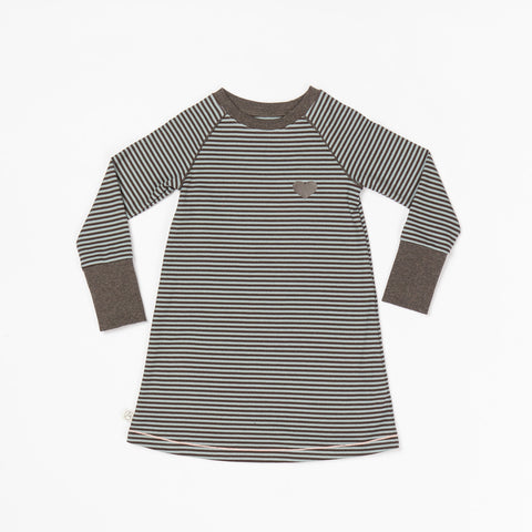 Alba Lenea School Dress Lead Striped