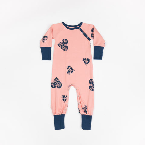 Alba Albababy Hedigby Play Suit Rosette Big Hearts