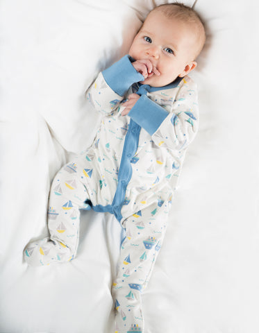My First Frugi Darling Babygrow, Summer Seas
