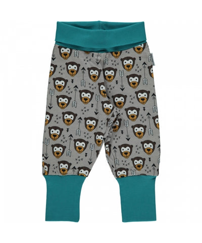 Maxomorra Rib Pants Monkey/Bear