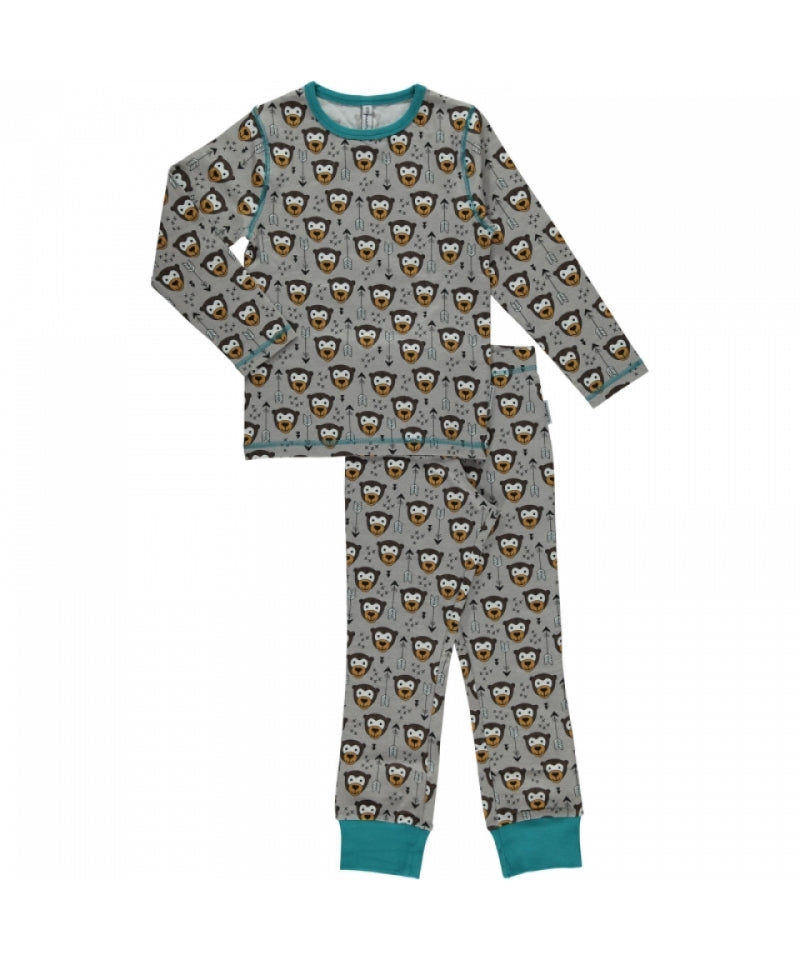 Maxomorra Pyjama Set Monkey/Bear