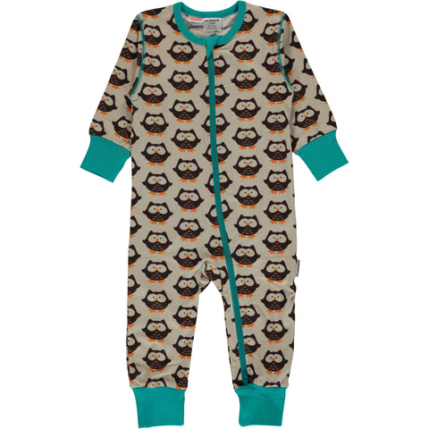 Maxomorra Organic Cotton Owl Rompersuit