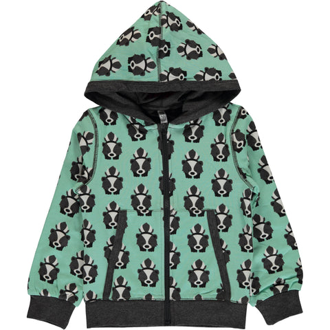 Maxomorra Organic Cotton Skunk Cardigan Hood