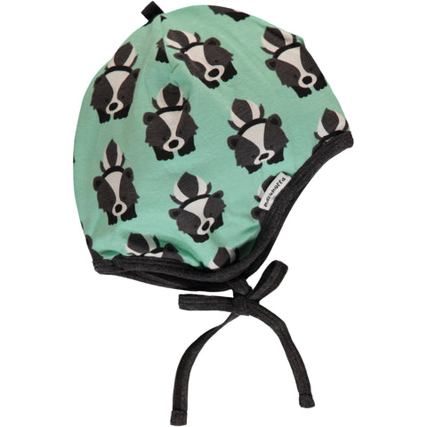 Maxomorra Organic cotton hat helmet skunk