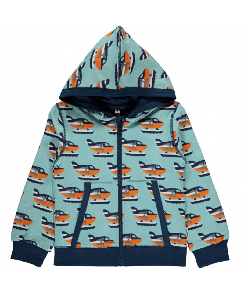 Maxomorra Cardigan Hood Sea Plane
