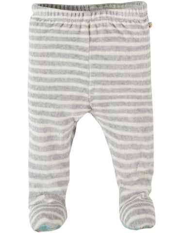 My First Frugi Poppet Pull Ups, Grey Marl Velour Stripe