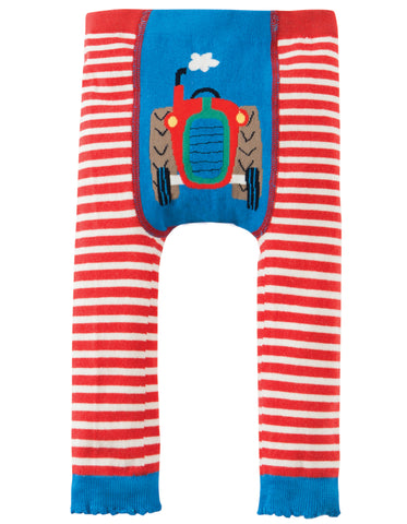 Frugi Organic Little Knitted Leggings Tractor
