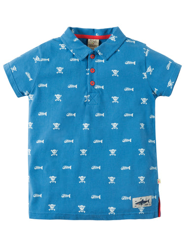 Frugi Organic Cotton Skull & Bones Polo Shirt