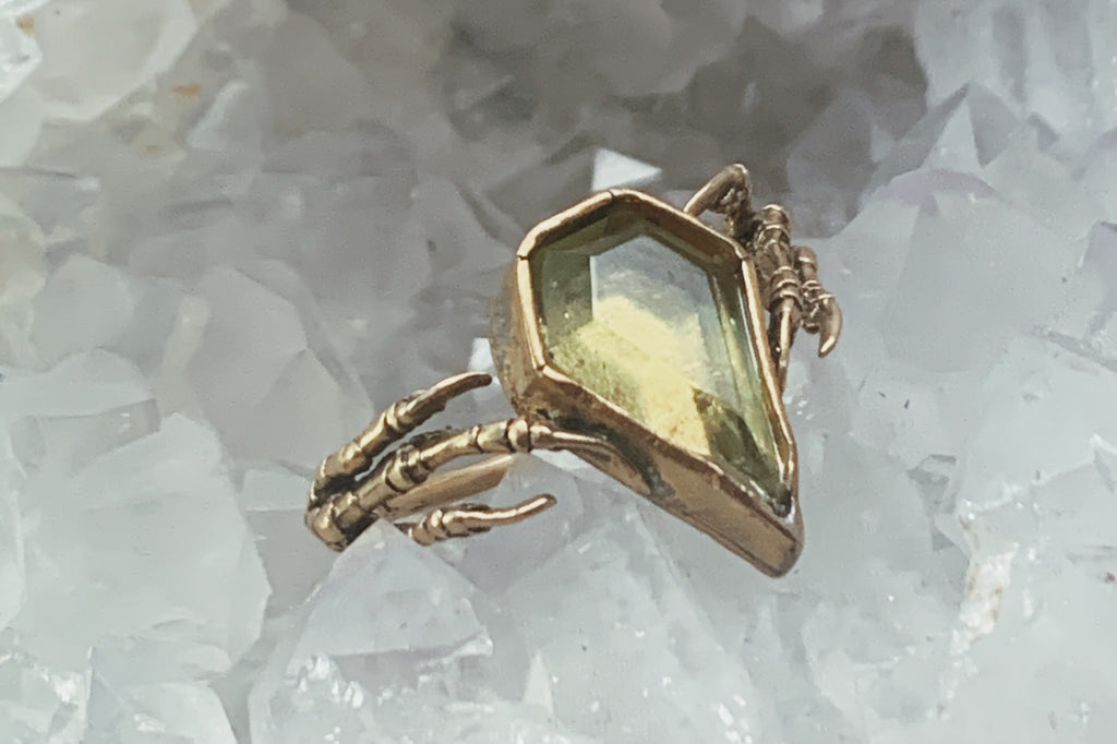 sparrow heart ring