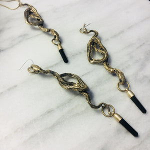 Serpent crystal Drop Earrings
