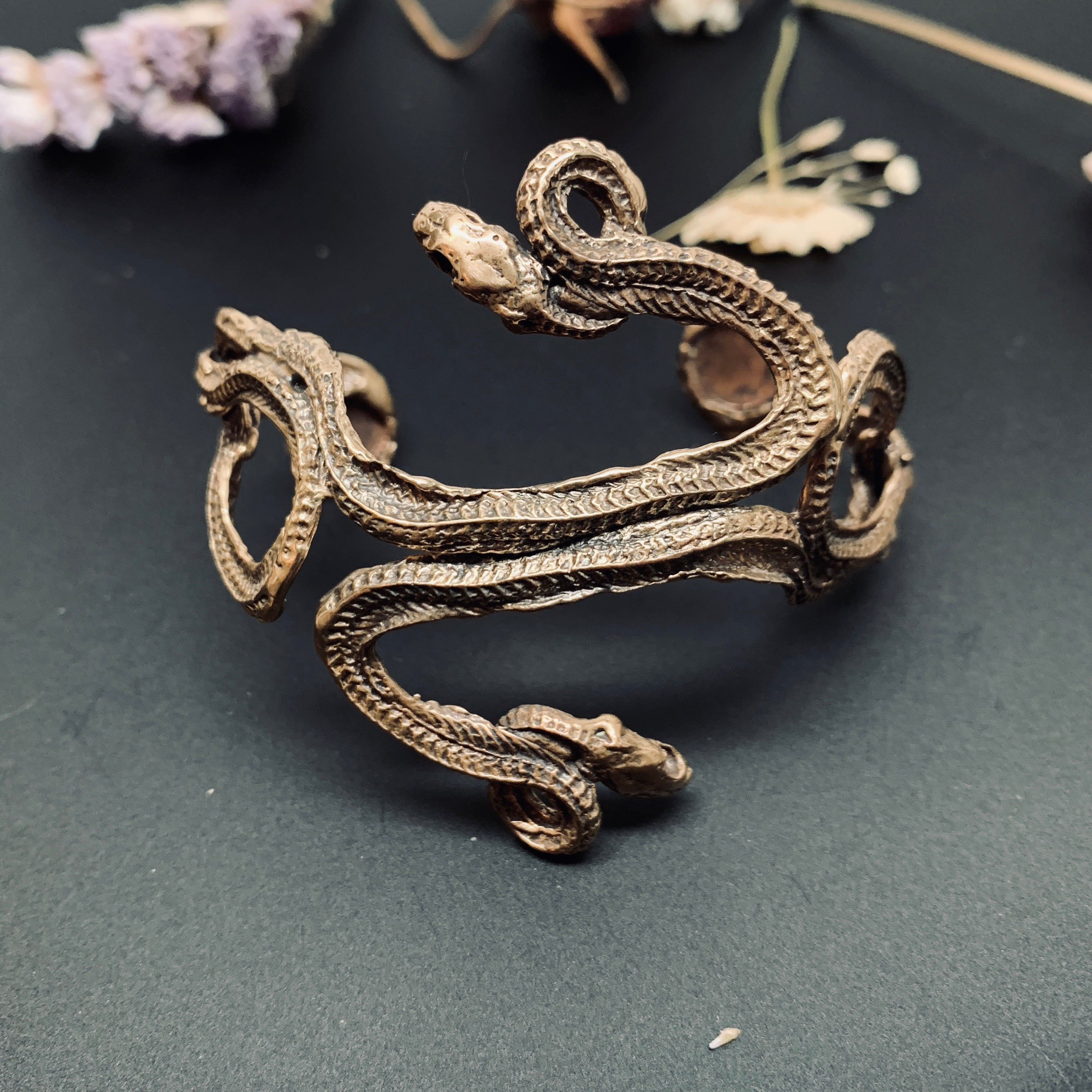 Twin Serpent Cuff