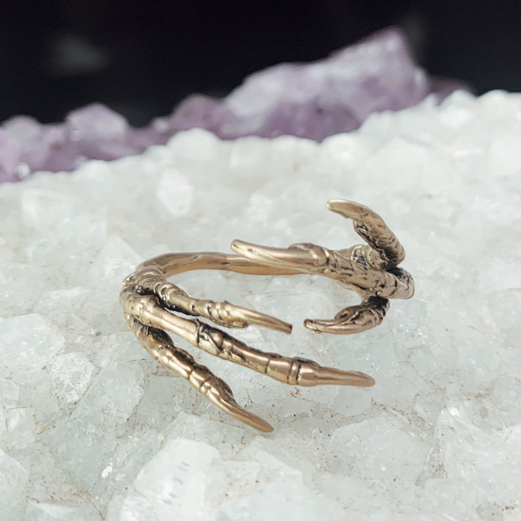 brass claw ring