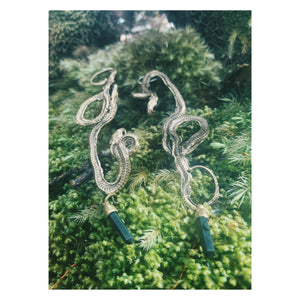 Large serpent earrings