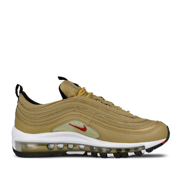 NIKE AIR MAX 97 QS (GS) METALLIC GOLD/VARSITY RED 918890-700 ⓗ