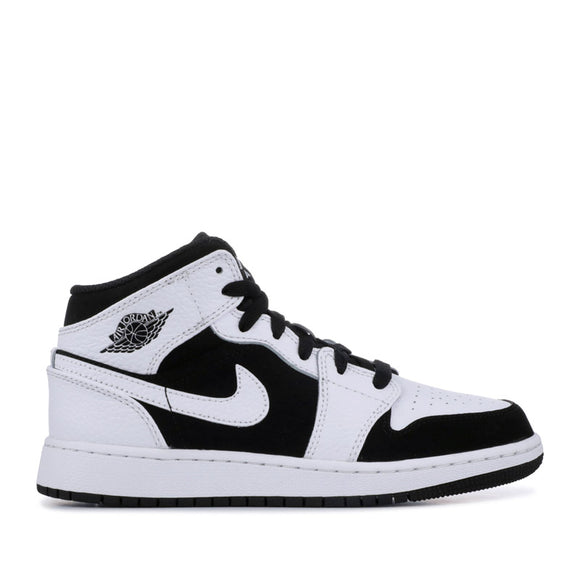 Jordan 1 Mid White Black (GS) 554725-113