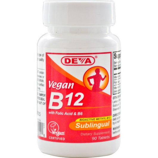 Deva   Vegan B12, Sublingua- 90 Tablets -  Deva Witamina B12 - 90 tabletek