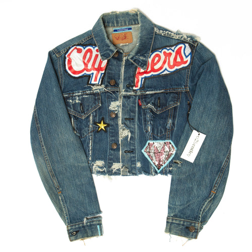 clippers crop denim jacket