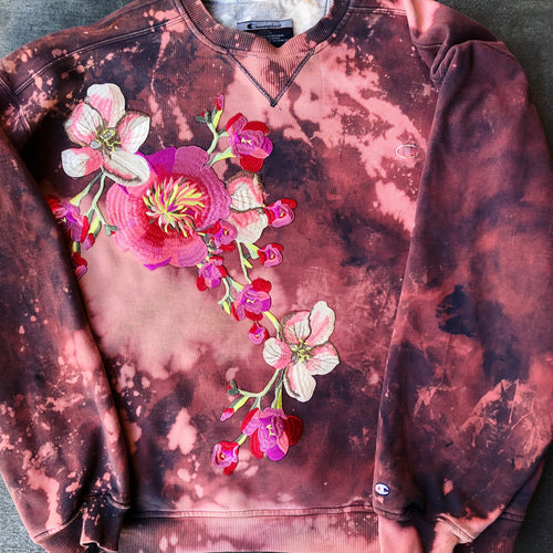 champion floral sweatshirt