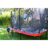 Pre Order 14ft x 8ft Premium Trampoline with Safety Net Black