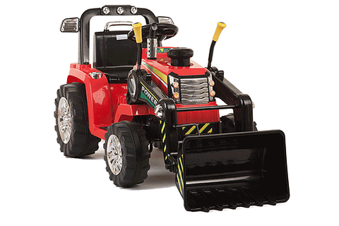 12v R/C Twin Motor Tractor - Red