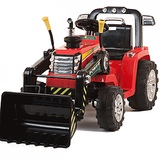 12v Tractor with Moving Loader Bucket  Red FREE DELIVERY