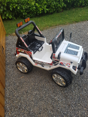 12v Drifter Jeep White Free Delivery